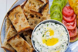 Goat Cheese Spread with Garlic and Fresh Herbs
