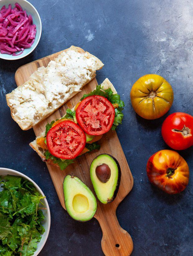 Simple Summer Veggie Sandwich