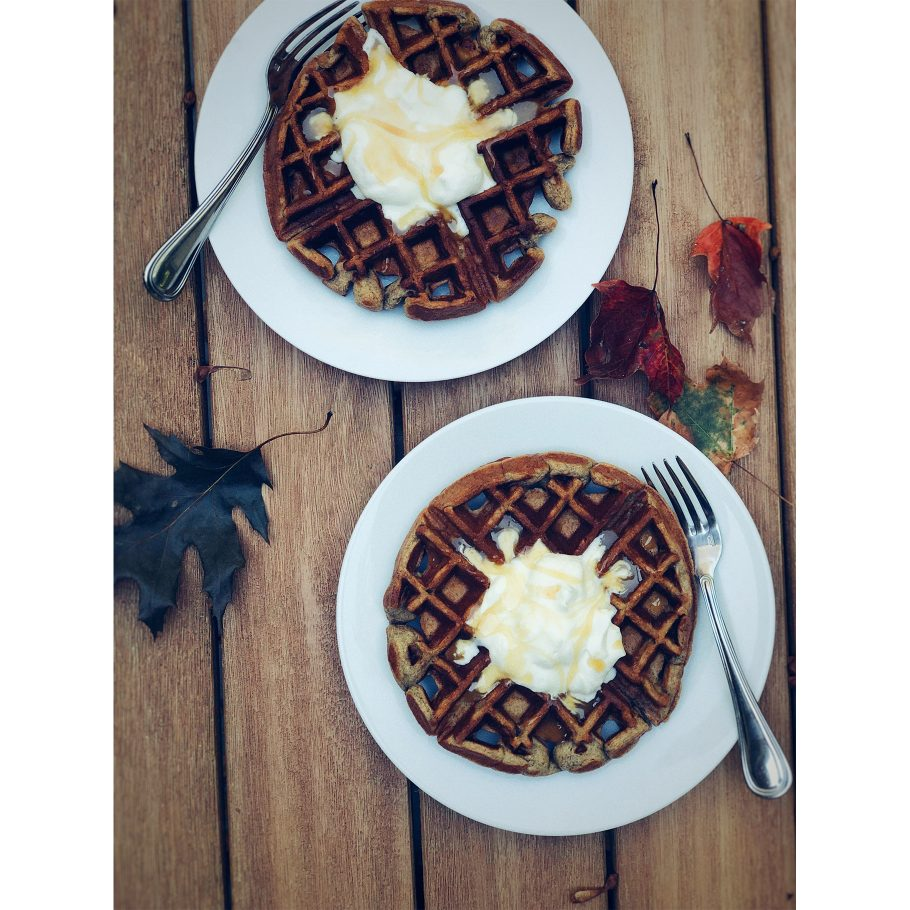 Sticky Toffee Waffles