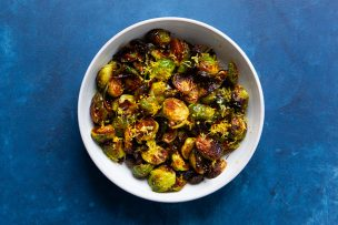 Brussels Sprouts with Honey Chile Glaze