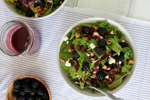 Blackberry Chèvre Salad