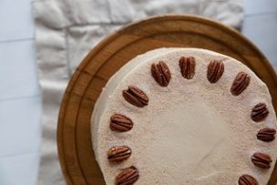 Spiced Pumpkin Layer Cake with Butterscotch Pecan Filling
