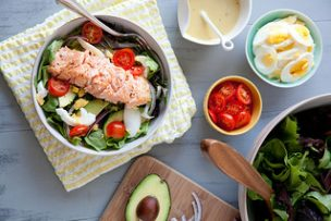 Salmon Salad with Honey Mustard Vinaigrette