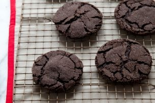 Sparkling Dark Chocolate Cookies