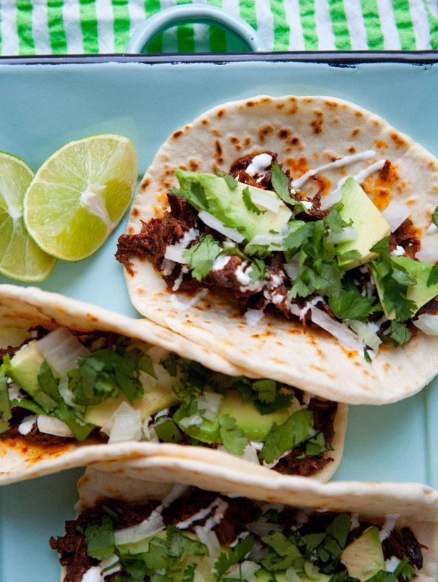 Guajillo-Braised Short Rib Tacos