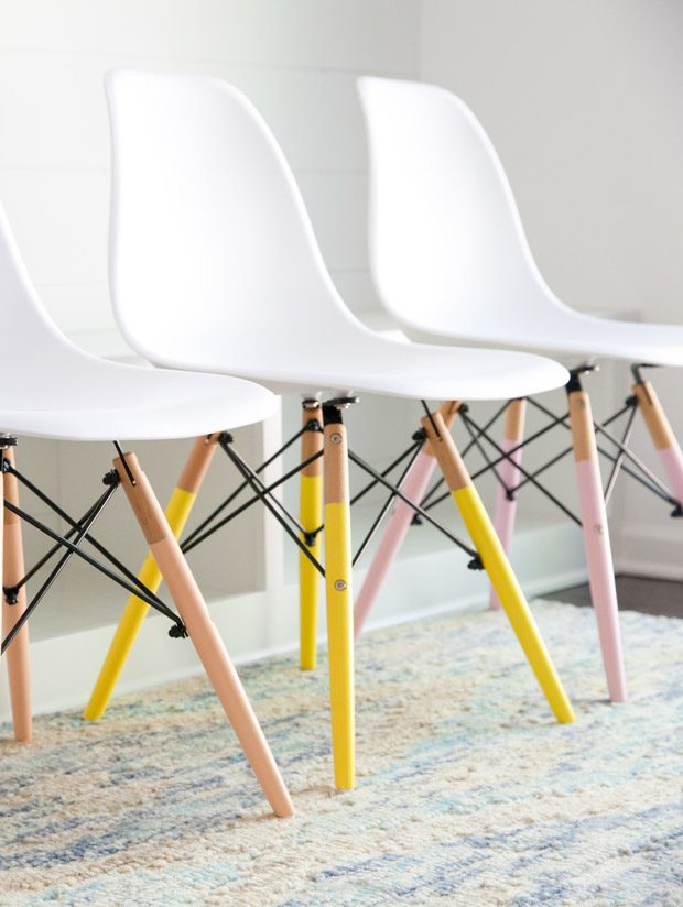Color Dipped Dining Chairs