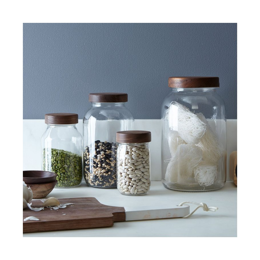 Mason Jars with Wooden Lids