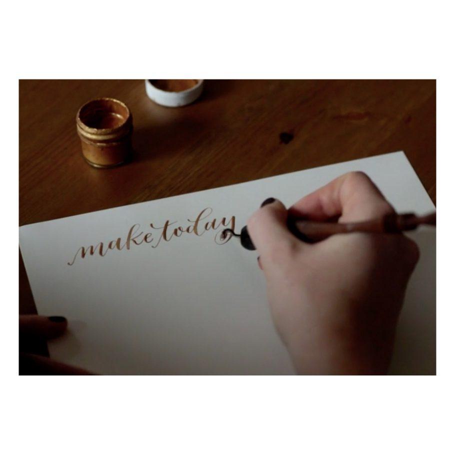 Manayunk Calligraphy Online Class