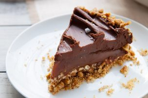 Salted Chocolate Caramel Pie with Pretzel Crust