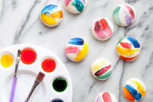 Artful Brush Stroke Macarons