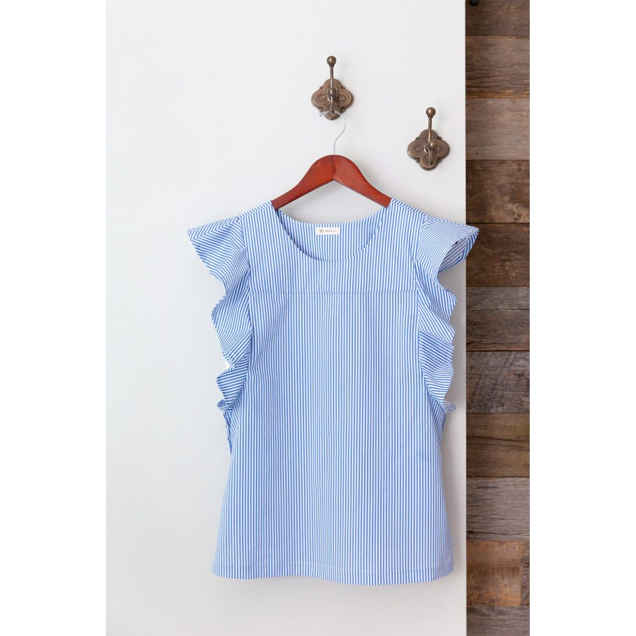 Flutter Sleeve Top - On Hanger