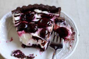 Roasted Cherry Chocolate Tart