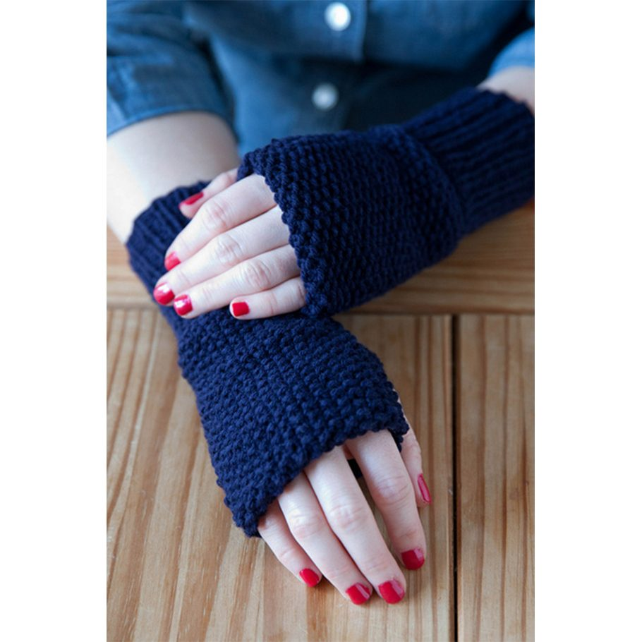 Seed Stitch Convertible Fingerless Mitts