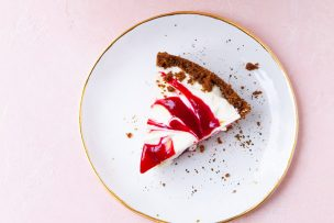Lemon Cranberry Swirl Pie
