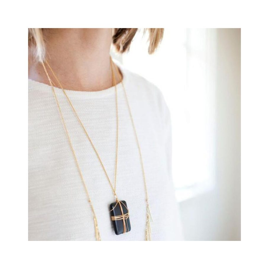 Wrapped Onyx Necklace
