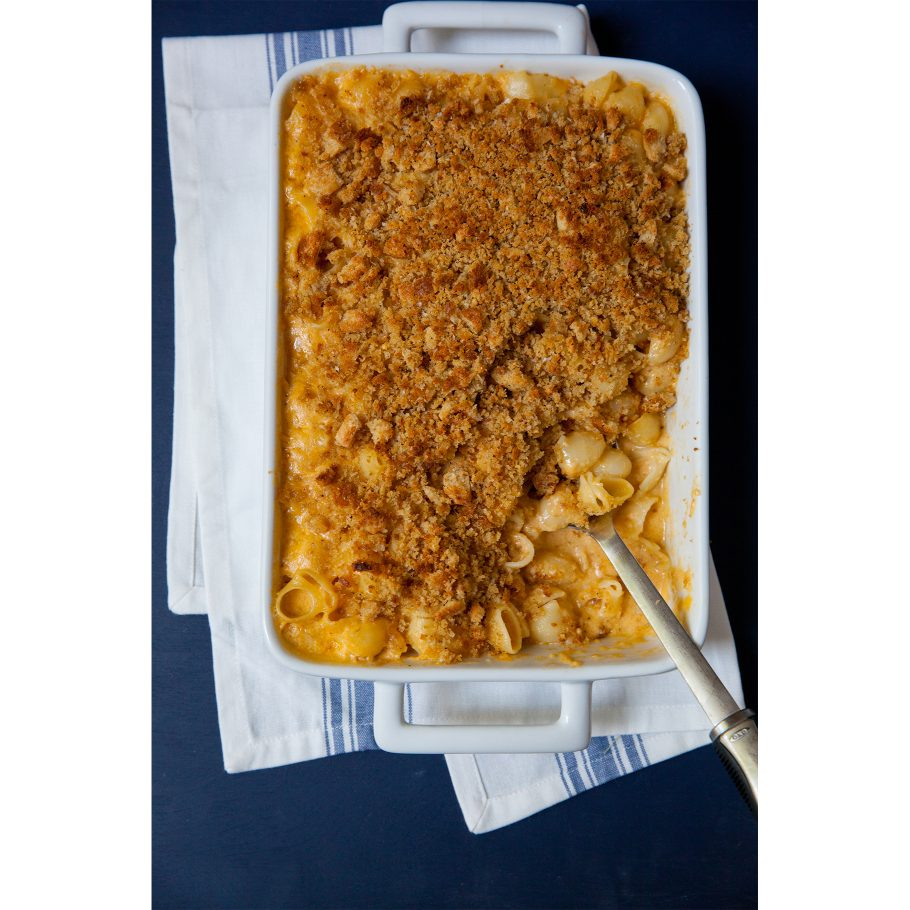 Mac and Cheese with Garlicky Breadcrumbs