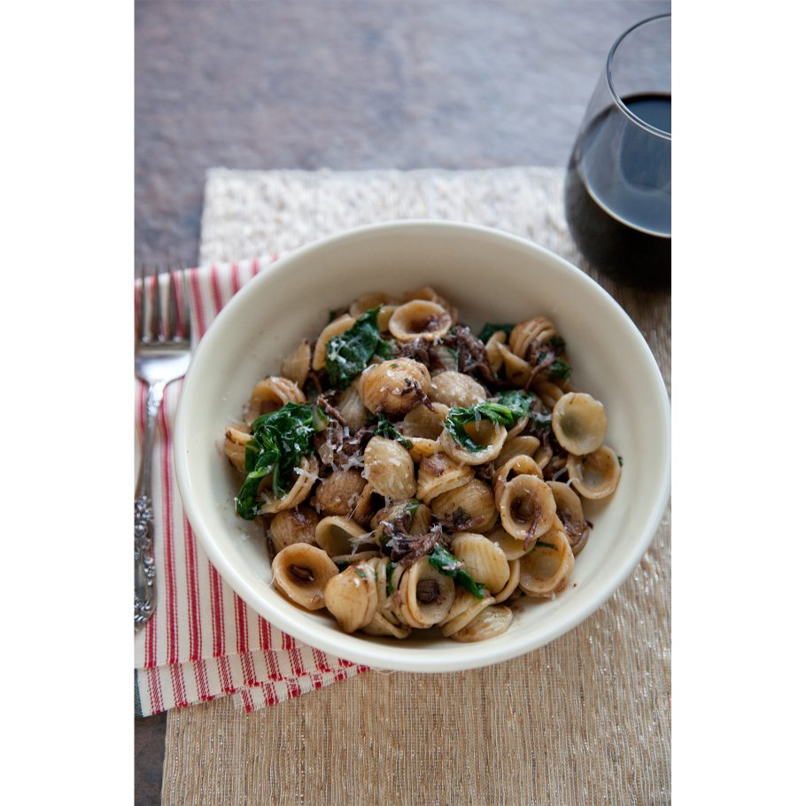 Cabernet Braised Short Ribs with Chard and Orecchiette