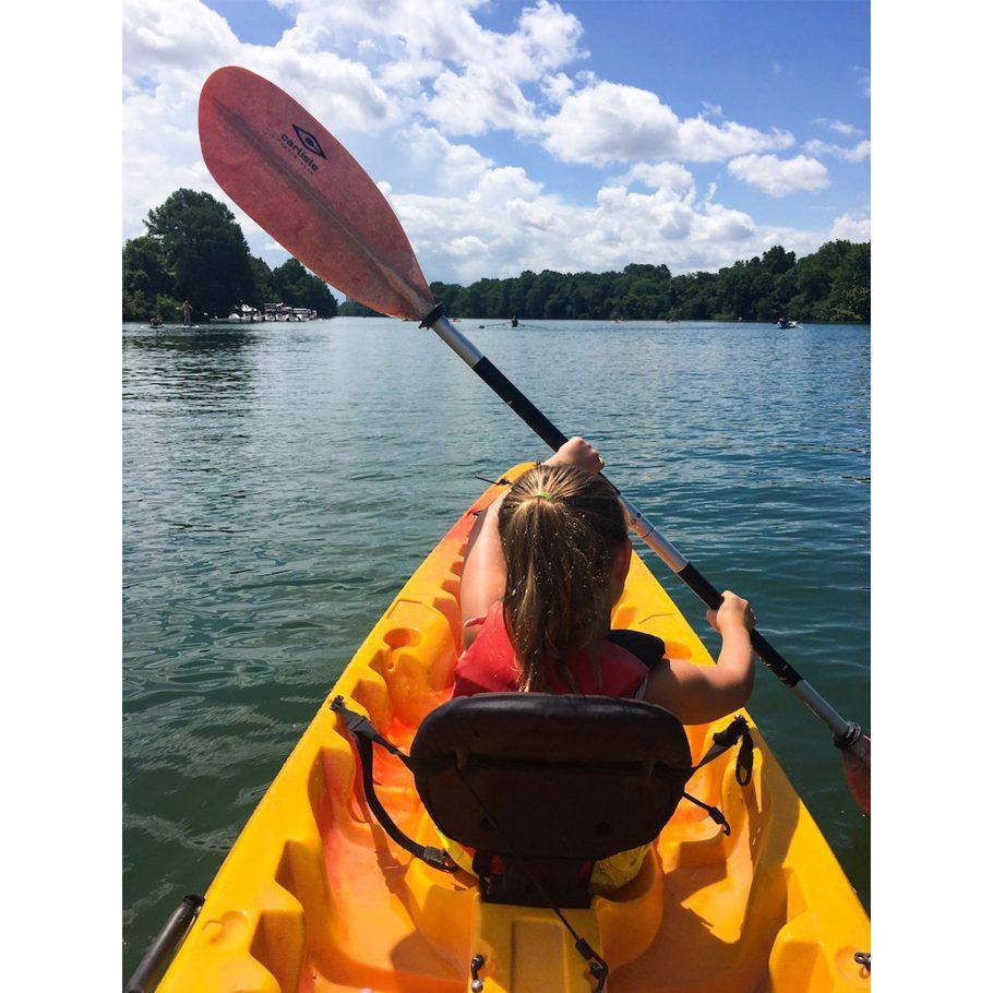 Kayaking on Lady Bird Lake