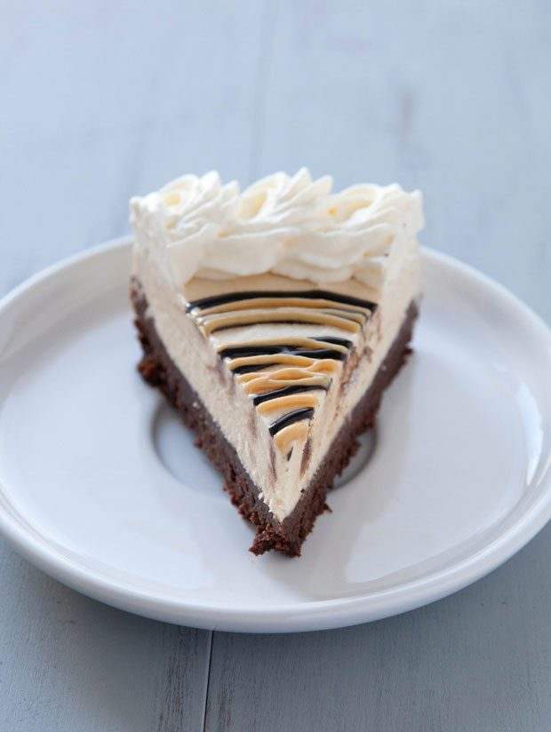 Peanut Butter Ice Cream Brownie Pie