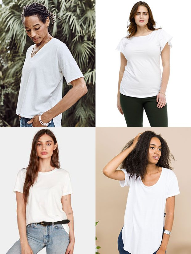 Five Fresh White Tees for Spring