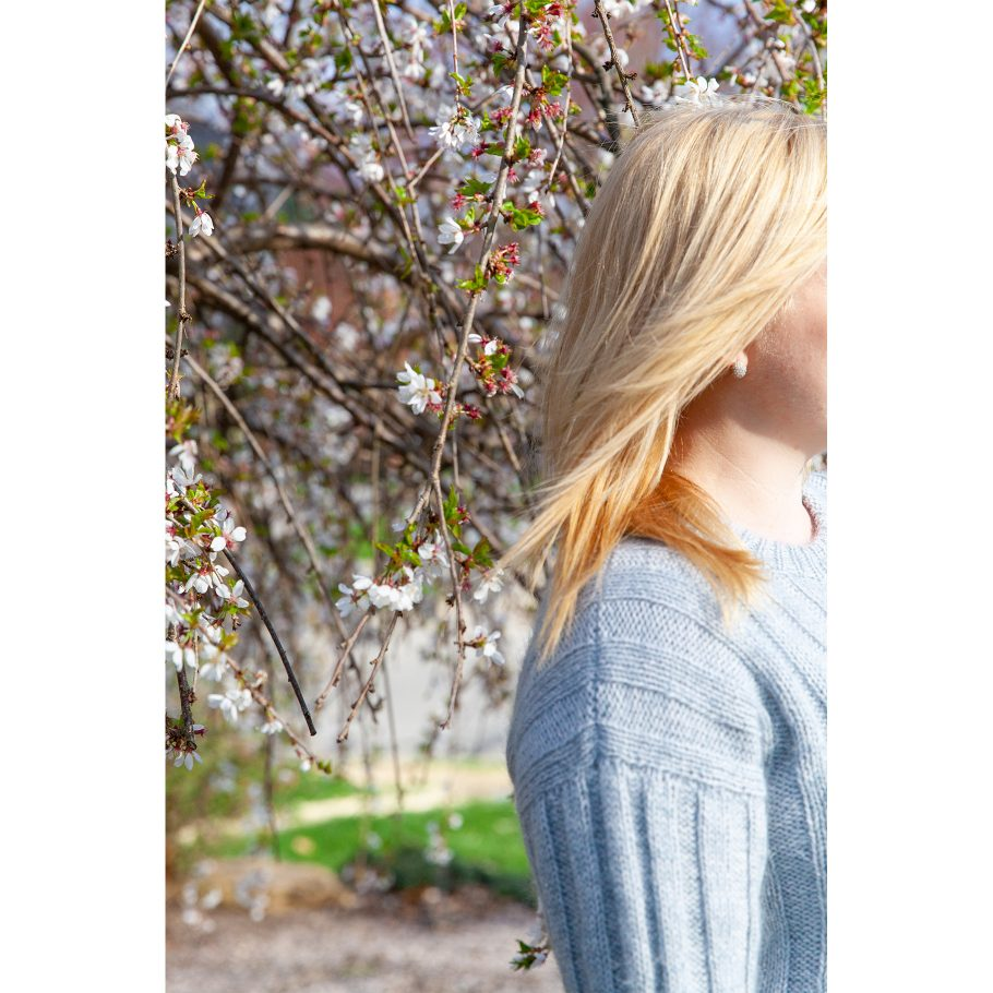 Vertical Stripes Sweater - drop sleeve