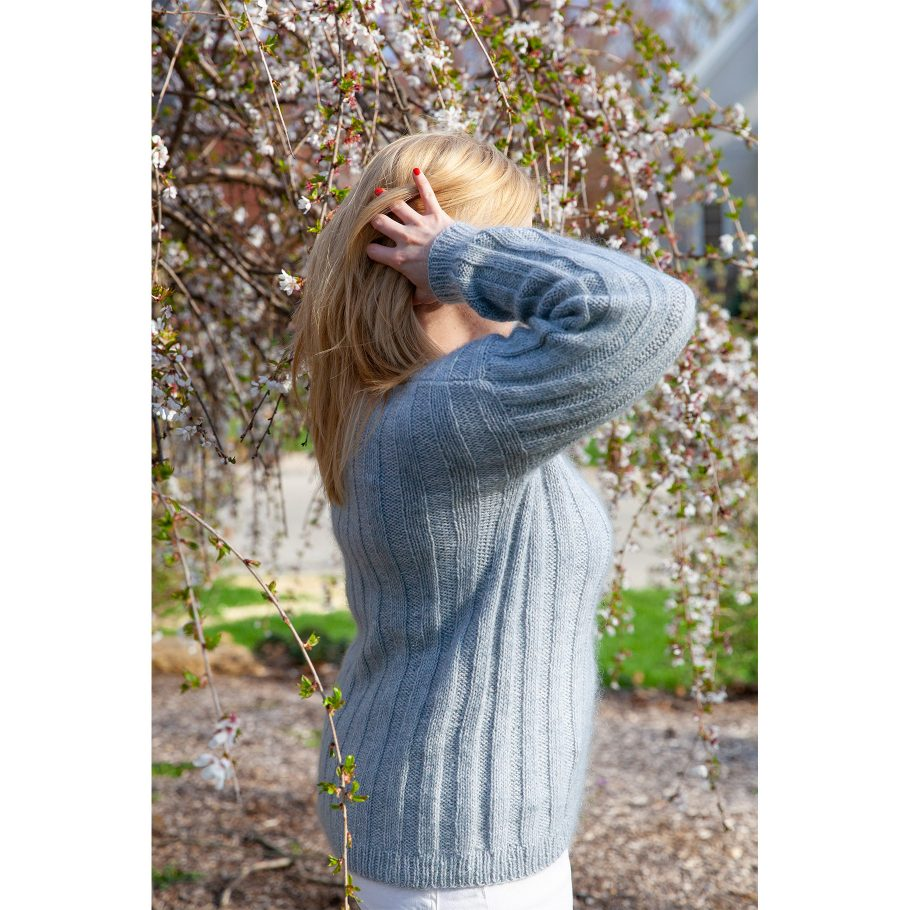 Vertical Stripes Sweater - side view