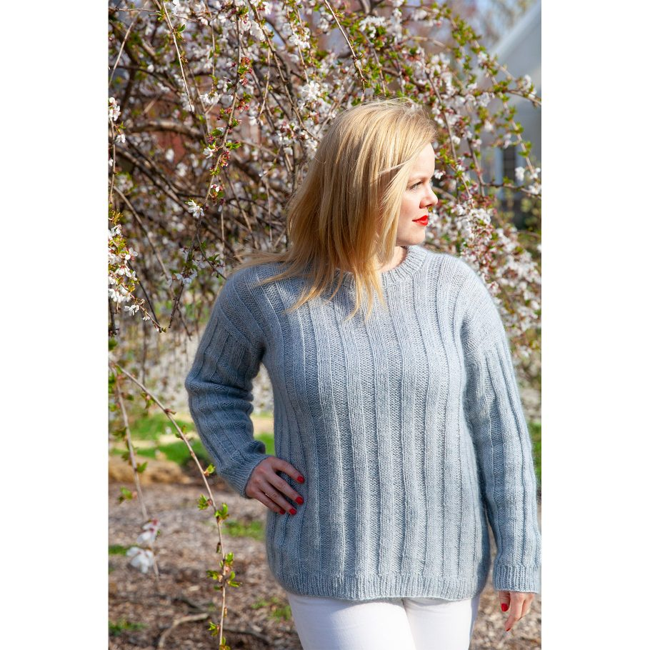 Vertical Stripes Sweater - front view