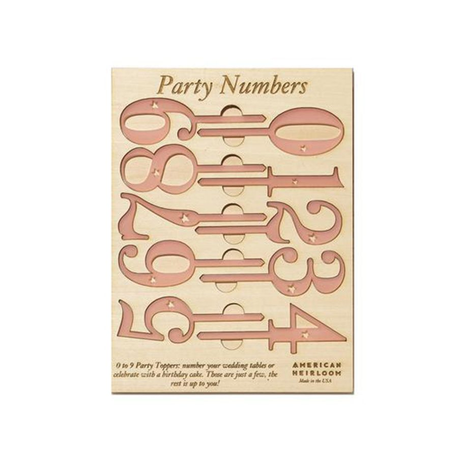 Reuseable Cake Topper Numbers