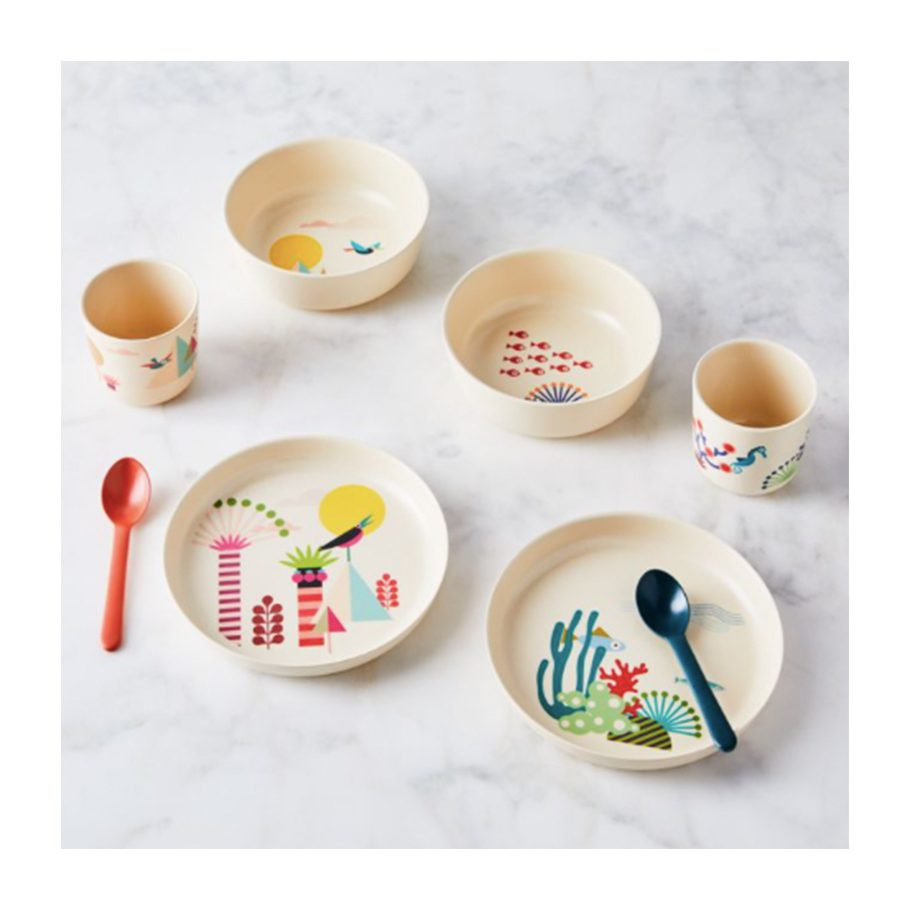 Recycled Bamboo Kids' Dinnerware Set