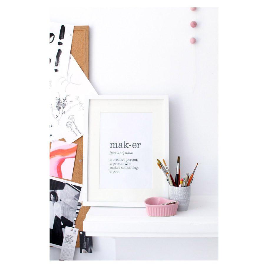 Maker Art Prints