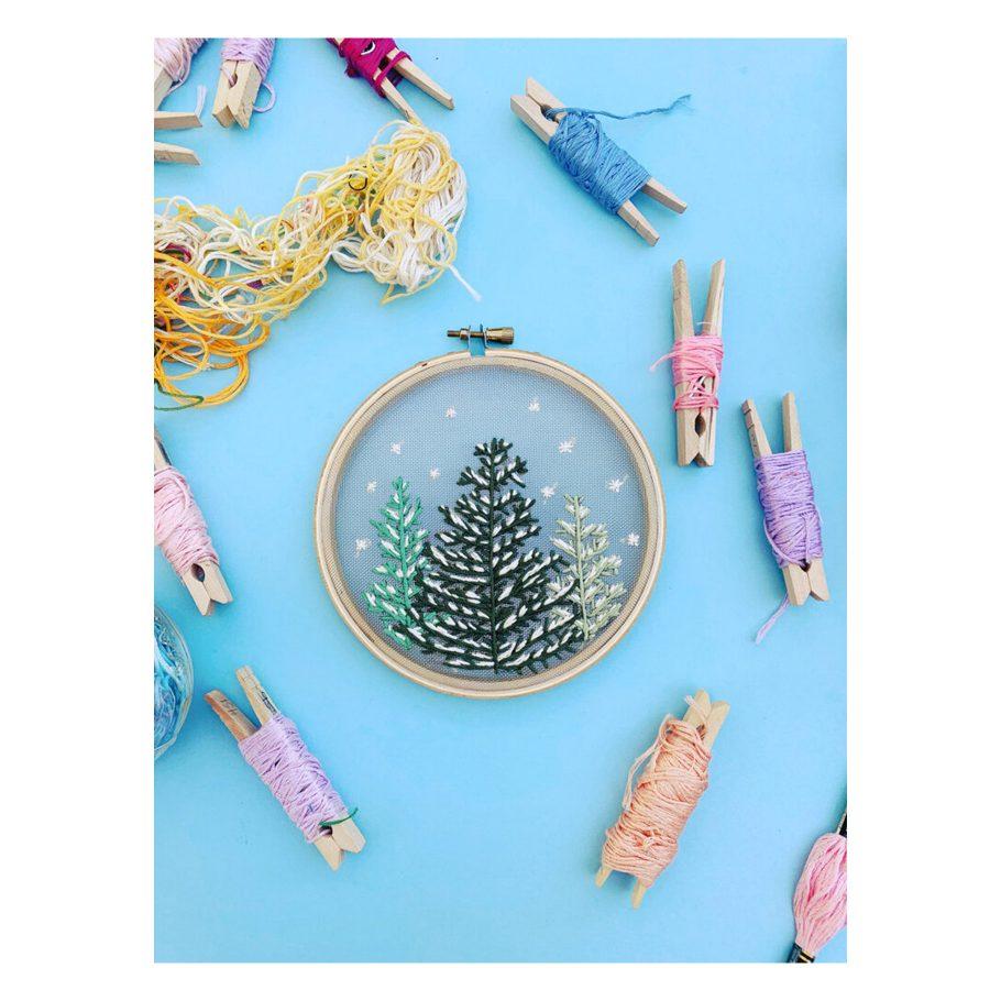 Snowfall Embroidery Kit