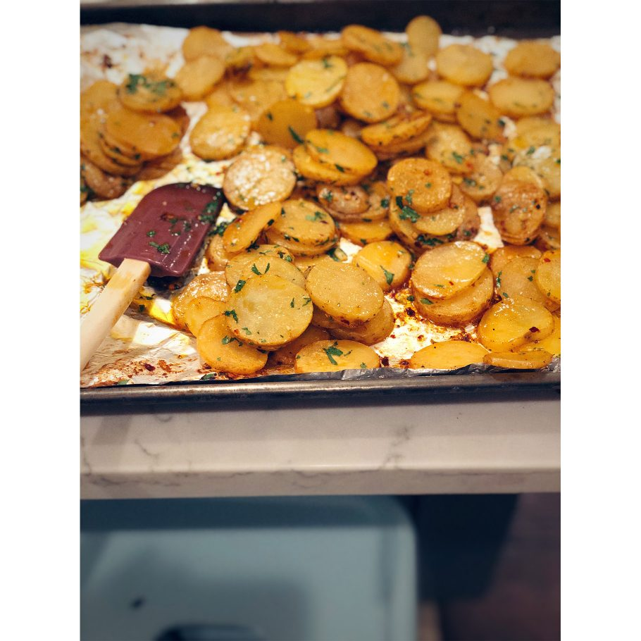 Crispy Vinegared Potatoes with Dried Chile