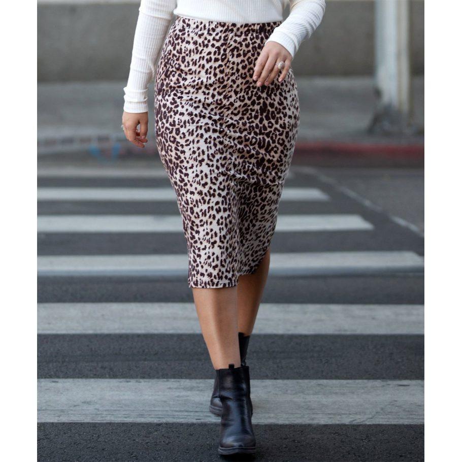 Cheetah Print Pencil Skirt