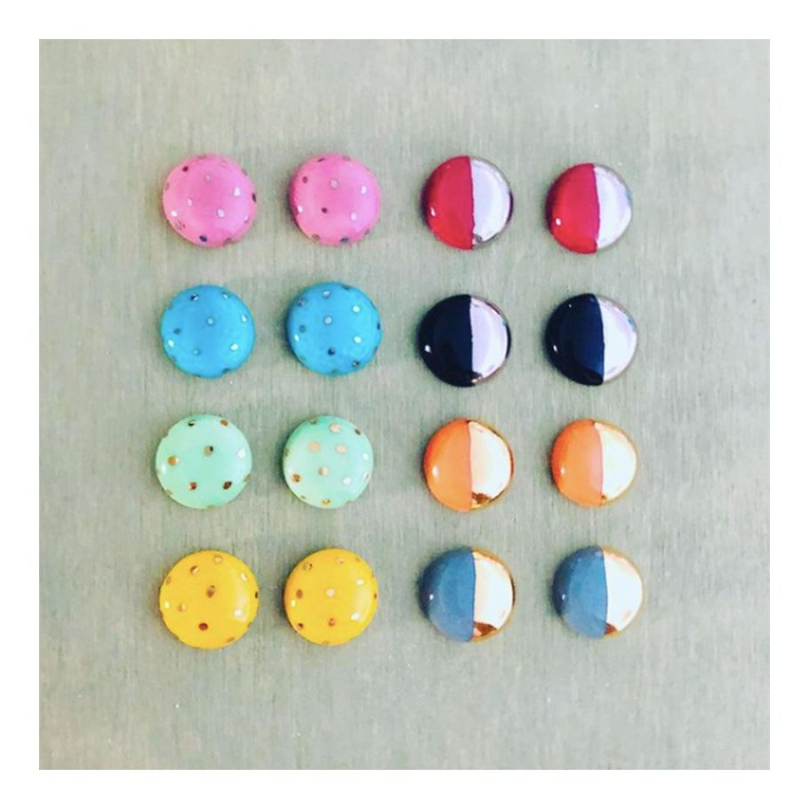 Colorful Ceramic Stud Earrings