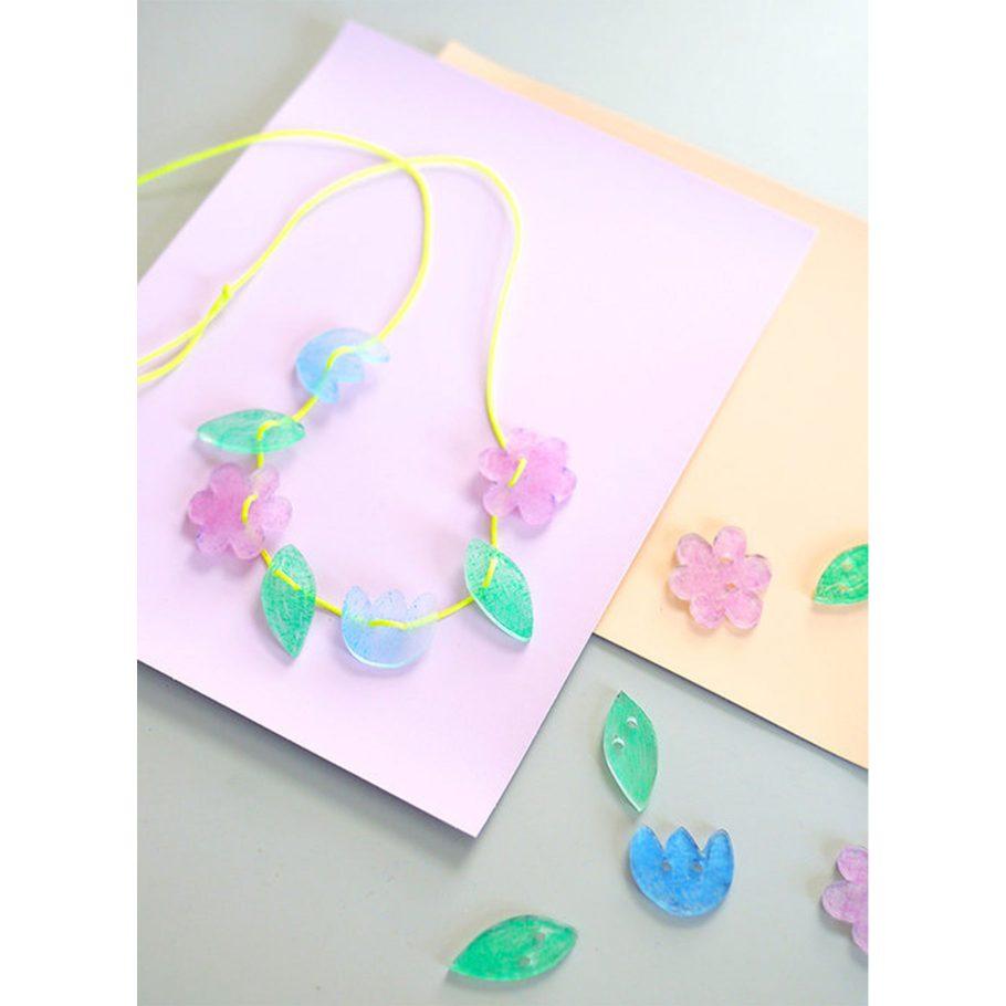 Shrink Charm Flower Necklace Mini Kit
